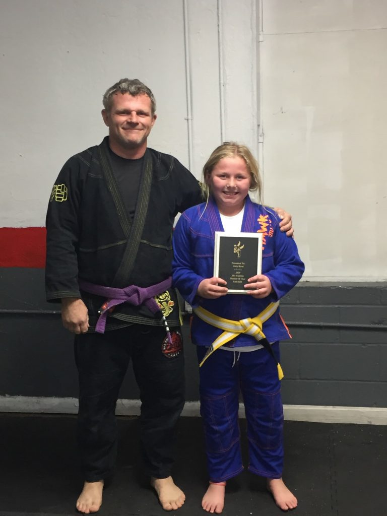 Abby B Brazilian Jiu Jitsu Kids 2020 Student of Year Purcell