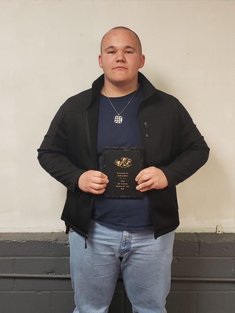 2020 Brazilian Jiu Jitsu Purcell Student of the Year