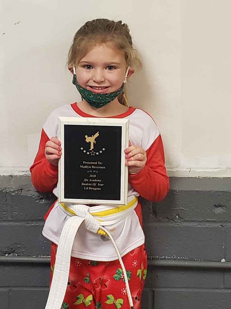 Lil Dragons 2020 JFA Student of the Year