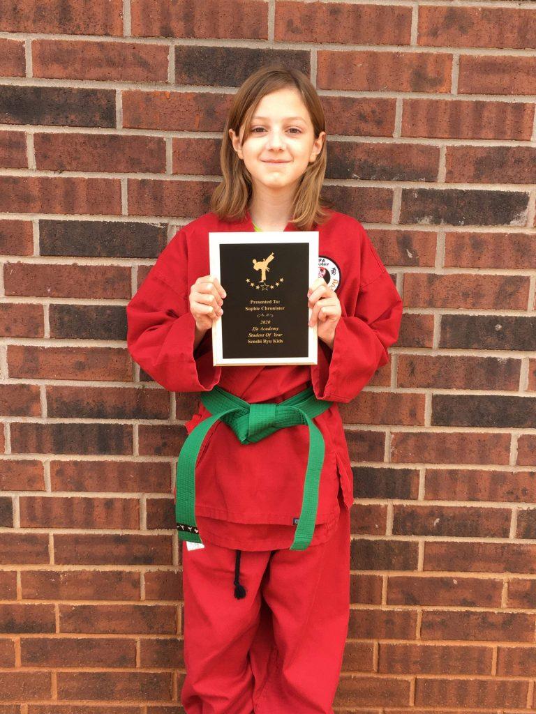JFA Senshi Ryu Karate Kids' Class Student of the Year